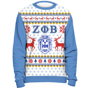 Zeta Phi Beta Ugly Christmas Sweater