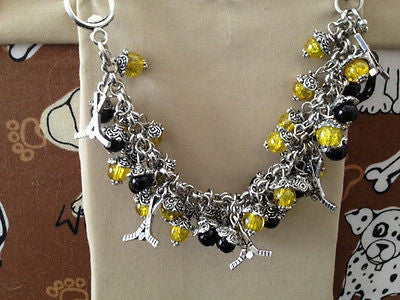 Bruins Hockey Yellow & Black Inspired  bracelet handmade Bruins Bracelet