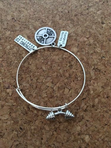 Exercise. Weightlifting Cross Fit Wire Bangle Exercise  Bracelet