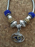 Los Angeles Rams Inspired  BRACELET   ADJUSTABLE TO 8 IN Inspired By