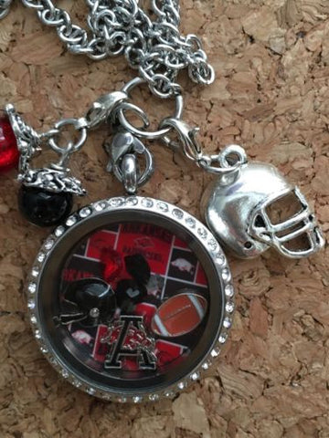 Arkansas Razorbacks  Inspired Necklace Memory Locket Razorbacks  Locket