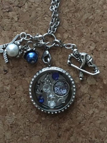 Blues Inspired Necklace Memory Locket Necklace Blues Necklace