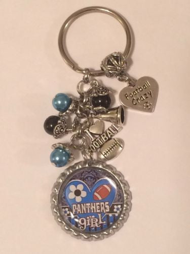 Panthers Inspired Keychain Panthers Handcrafted Key Chain