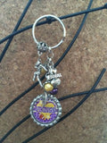 Vikings Inspired Keychain Football Charm Vikings Key chain