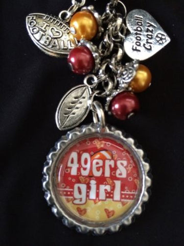 49ers  Inspired Football Keychain Free Shipping 49ers Key chain