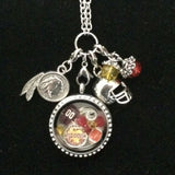 Redskins Inspired Necklace Memory Locket Necklace Redskins Necklace