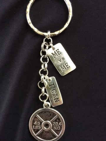 45lb weight Me vs Me Weightlifting Keychain,Exercise, Key Chain Exercise Keychai