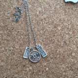 Dumbbell 45lb  Strong is Sexy Weightlifting necklace,Exercise,Gym Necklace
