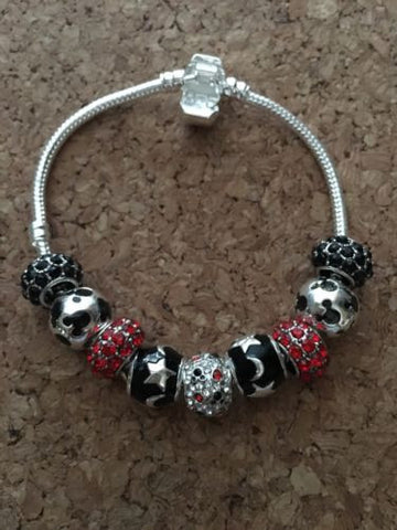 Mickey Mouse Minnie Mouse European Bead Inspired Bracelet