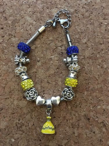 Belle Beauty And The Beast Inspired European Bead Inspired Bracelet