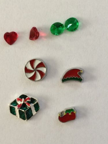 Christmas Inspired Memory Locket Charms Set #1