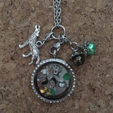 The Jungle Book Mowgli Baloo  Inspired  Living  Locket  Necklace