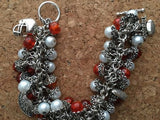 Vols  Orange & White Inspired Chunky Charm Bracelet