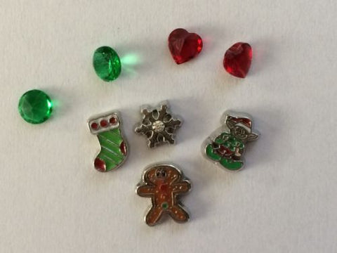 Christmas Inspired Memory Locket Charms Set #2