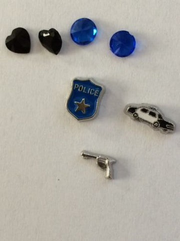 Police Officer Policeman Memory Locket Charms