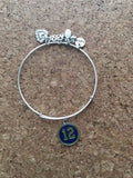 Seattle Seahawks Inspired Adjustable Bracelet
