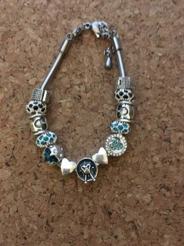 Mickey Mouse Minnie Mouse European Bead Inspired Bracelet #2
