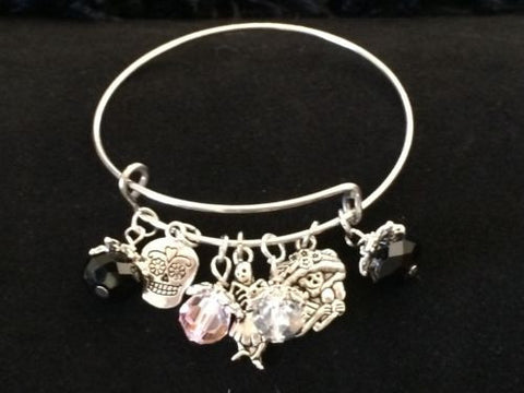 Day Of The Dead  Wire Bangle