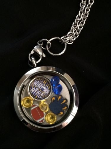Wolverines Necklace Memory Locket Necklace Wolverines Necklace