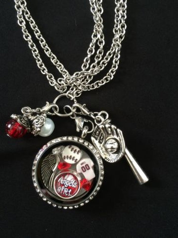 Angeles Inspired Memory Locket 30in chain Angeles Necklace
