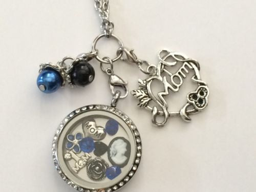 Mothers Day Mom  Memory Locket Mom Locket Necklace USA Seller F/S