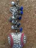 Dodgers Purse Charm Keychain Inspired By Me