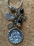 Saints inspired Football keychain Saints Key chain