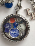 Wildcats Inspired Necklace Memory Locket  W/Chain Wildcats Necklace