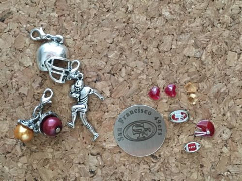 49ers Inspired Charm For Memory Locket 49ers Charm