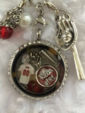 Cincinnati Reds Inspired  Necklace Memory Locket Necklace W/Chain Reds Necklace