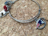 Patriots  Inspired  Wire Bangle