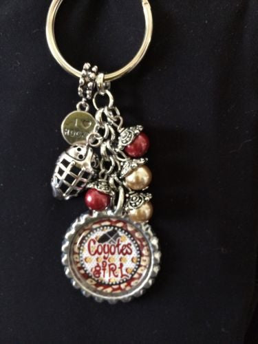 Coyotes Inspired Bottle Cap Keychain Handmade Coyotes Key Chain #2
