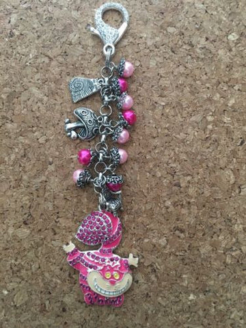 Cheshire Cat Purse Charm Keychain Inspired By Me. Cat Purse Charm