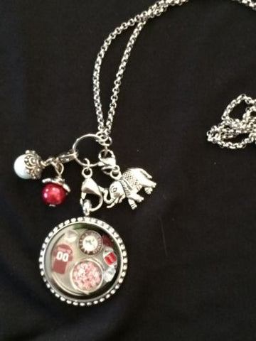 Alabama Crimson Tide Inspired Memory Locket Bama Inspired Necklace