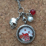 Cornhuskers Inspired Necklace Living Locket Necklace