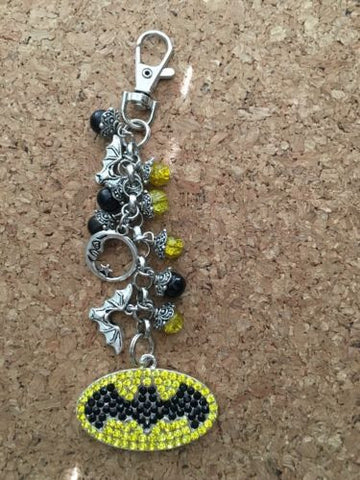 Batman Inspired  Purse Charm Keychain Inspired By