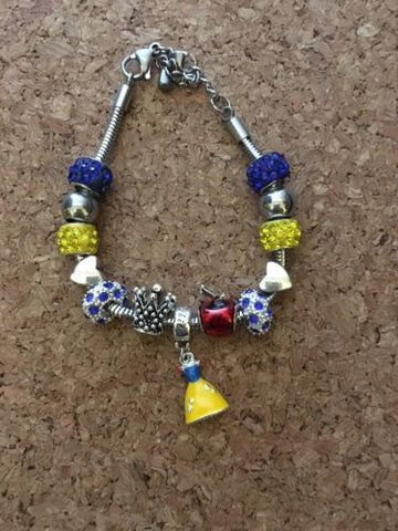 Snow White  Inspired European Bead Inspired Bracelet