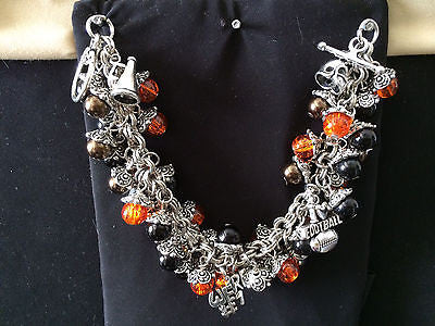 Beavers Inspired Charm Bracelet Brown & Orange Beavers Bracelet