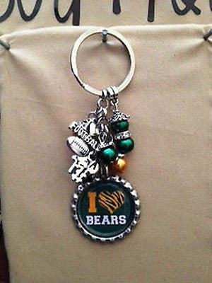 Bears Inspired Bottle Cap Keychain Handmade Bears Key Chain Style 2