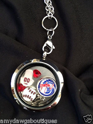 Anaheim Angels Inspired Memory Locket w/chain Angeles Necklace