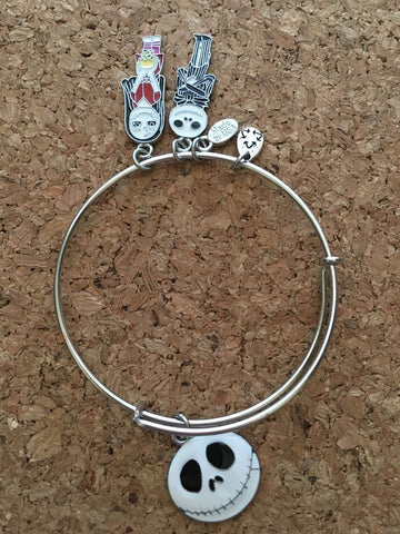 Nightmare Before Christmas Inspired  Wire Bangle Disney Bracelet