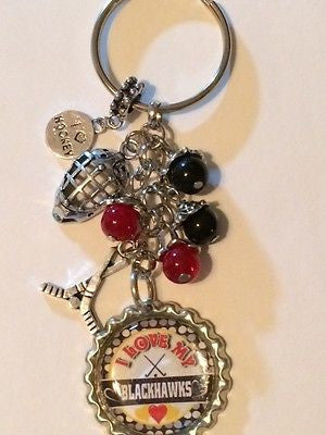 Blackhawks Inspired Keychain Blackhawks Handcrafted Key Chain