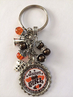 Beavers Inspired  Bottle Cap KeyChain Handmade Beavers Key chain