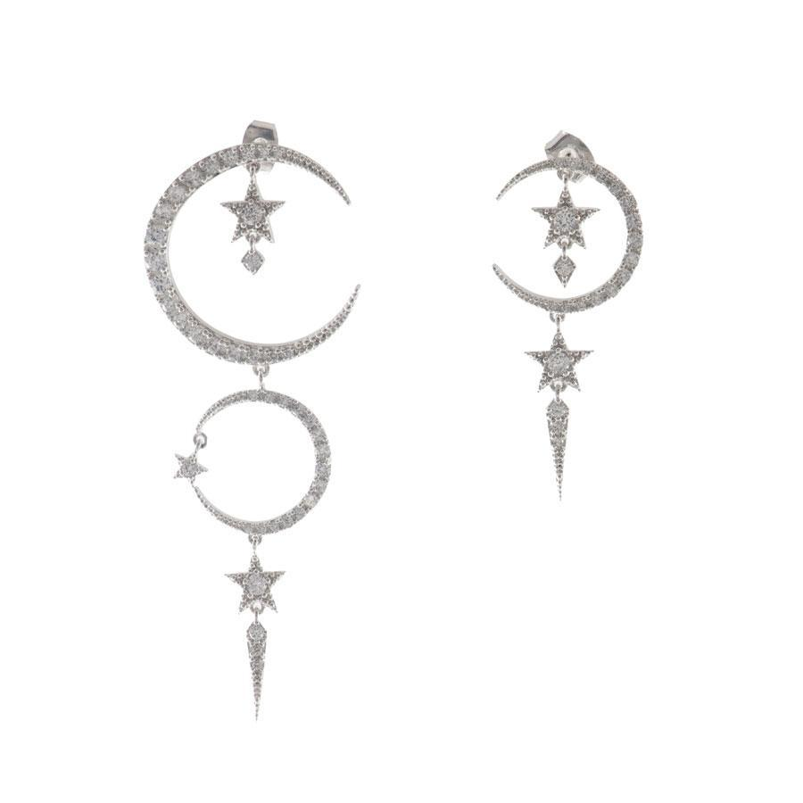 Wanderlust + Co - Cosmic Dust Silver Earrings