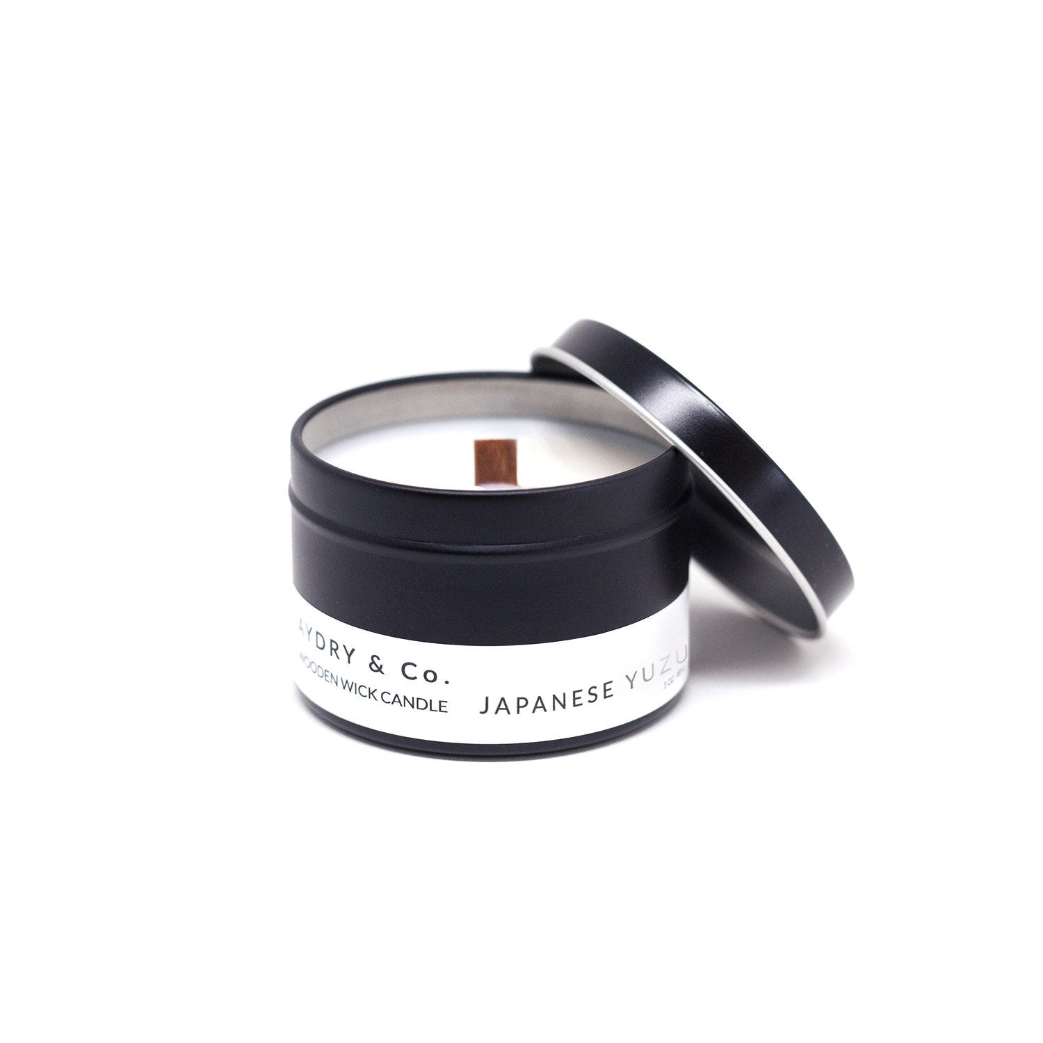 Aydry & Co. - Mini Japanese Yuzu Wooden Wick Tin Candle