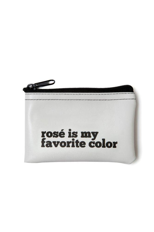 He said, She said - Rose Is My Favorite Color Vinyl Zip Pouch