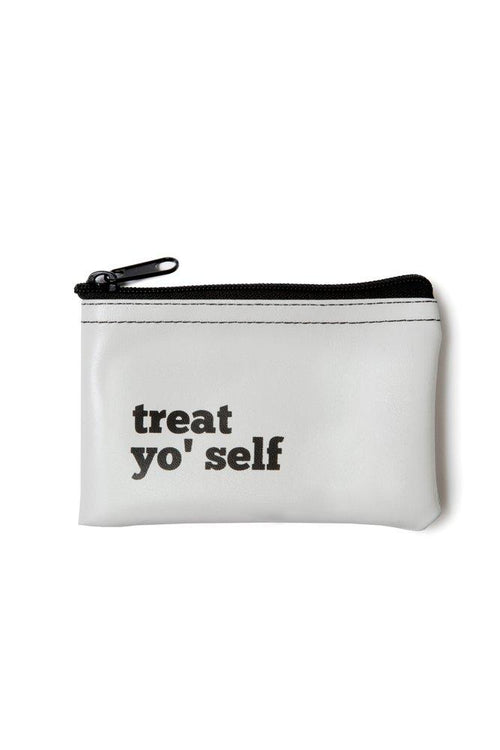 He said, She said - Treat Yo' Self Vinyl Zip Pouch