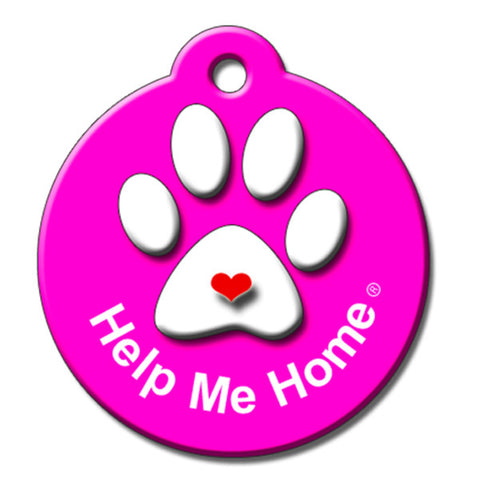Help Me Home QR Code Pet ID Tag by BarkCode - Pink