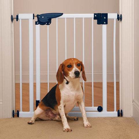 Pet Studio Pressure-Mounted Pet Gates - White