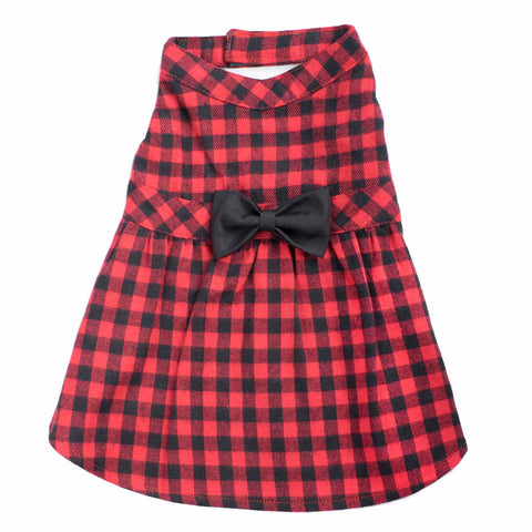 Worthy Dog Buffalo Plaid Dog Dress
